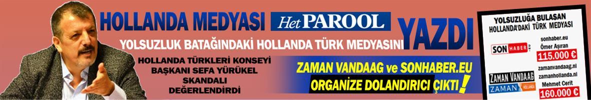 Hollanda medyası: Zaman Vandaag ve SonHaber.eu organize dolandırıcı