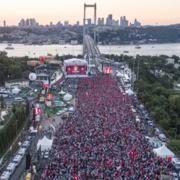 15 Temmuz Şehitler Köprüsü'nde muhteşem tören