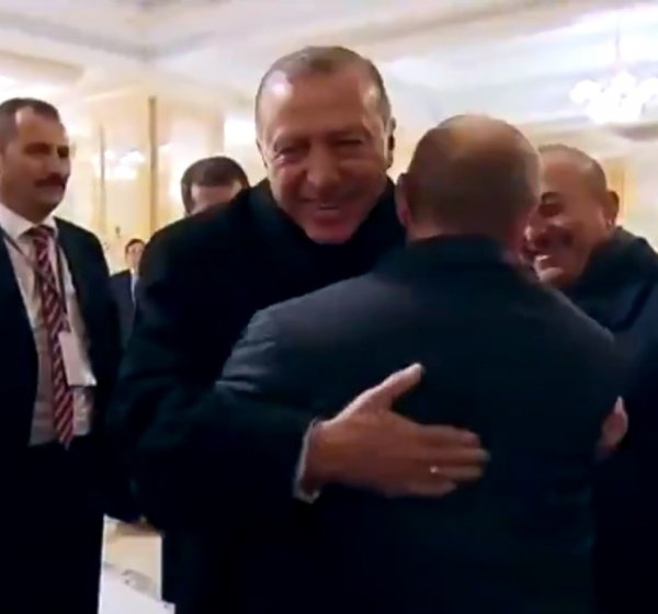 Cumhurbaşkanı Erdoğan ile Putin'in samimi anları