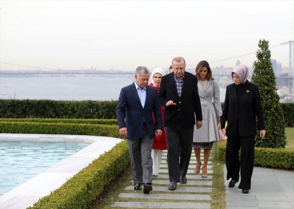Erdoğan Ürdün Kralı II. Abdullah ile görüştü