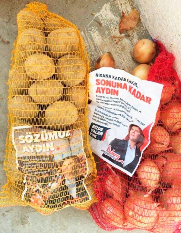 Aydın'da patates-soğanlı seçim çalışması