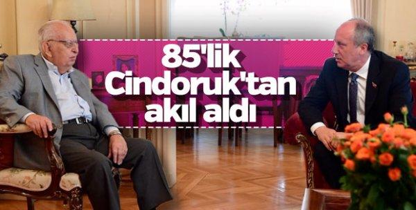 Ekrem İmamoğlu, Hüsamettin Cindoruk'u ziyaret etti