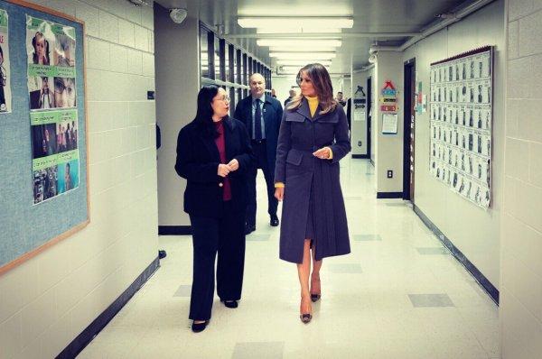 Melania Trump FETÖ okulunu ziyaret etti