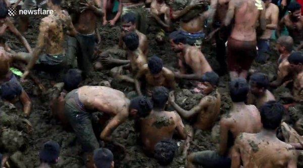 Gübre savaşına giren Hindular
